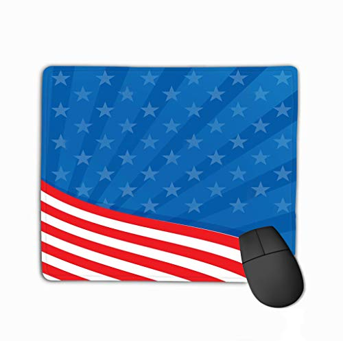 Mouse Pad Background Colors American Flag Frame United States Rectangle Rubber Mousepad 11.81 X 9.84 Inch