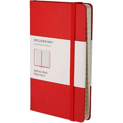 Alphabetische Telefonbuch (Moleskine Adressbuch Large, Hardcover, rot)