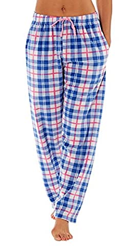 Selena Secrets Ladies Lounge Pants - Blue Check - 14/16
