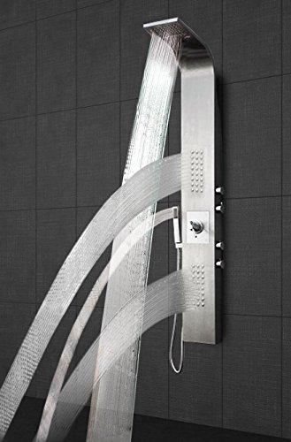 Luxuria® Duschpaneel inkl. Thermostat Armatur Regendusche Duscharmatur Wasserfall Duschsäule