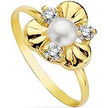 d5dd5f5ada02 Alda Joyeros Sortija Oro Amarillo Natalia 18 Ktes - 1ª Comunión niña