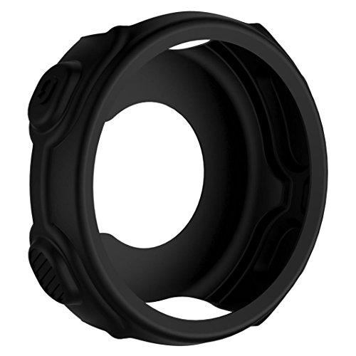 Colorful Für Garmin Forerunner 235 Schutzhülle Soft Silikon Hülle Case Schutz für Garmin Forerunner 235 GPS Uhr (Schwarz)