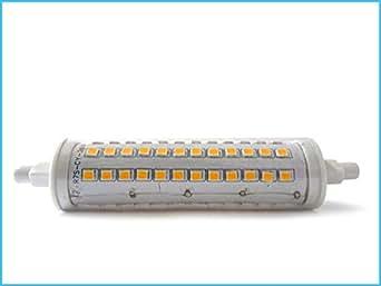 Lampada led r7s 360 gradi lineare 118mm 10w bianco caldo for Lampada alogena lineare led