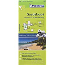 Carte Guadeloupe, Saint Martin, Saint Barthélémy Michelin