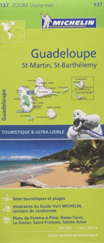 Carte Guadeloupe, Saint Martin, Saint Barthlmy Michelin