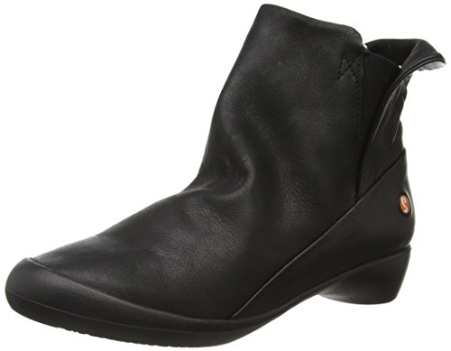 Softinos Damen Fla346sof Kurzschaft Stiefel Black (Black (Black Sole))