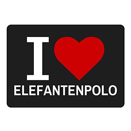 Alfombrilla Classic I Love elefantes Polo negro
