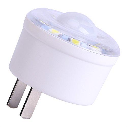 Motion Sensor LED-Licht, 1,8W 220V E27Sockel PIR Infrarot-Licht Motion Sensor 10LED-Lampe Schlafzimmer Energiesparend Leuchtmittel Cool weiß für Wohnzimmer Küche Schlafzimmer Badezimmer (Motion-sensor-schalter 220v)