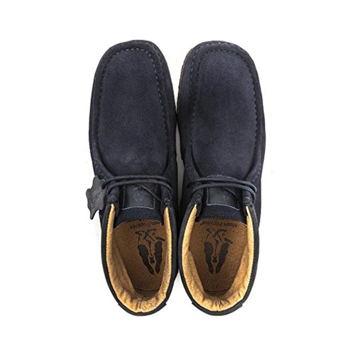 Hush Puppies, Mocassini uomo blu Navy Suede Blue