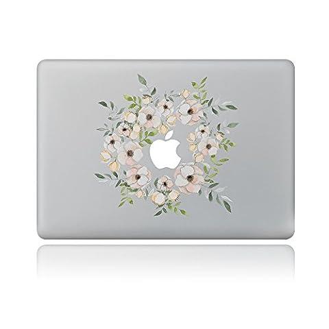 Cinlla® Erfrischende Blumen Laptop AufKleber Notebook Schutzfolie Haut aus Vinyl Skin Sticker Decal für Apple Macbook Air 11
