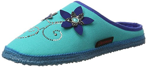 Giesswein Prien, Chaussons Mules Femme Turquoise (595 / Capri)