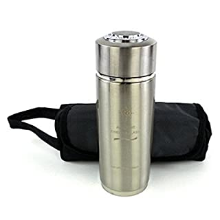 Filter Flasks with a Carry Bag - Twin Filter Nano Energy Lonizer Alkaline Water Flask - Portable Alkaline Water Twin Filter Nano Energy Ionizer Flask Health Cup/Bottle