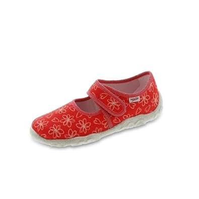 Superfit Schuhe Kinder Hausschuhe Mädchen Ballerinas Weite Mittel Bonny 2-00283, Größe:23;Farbe:Rot