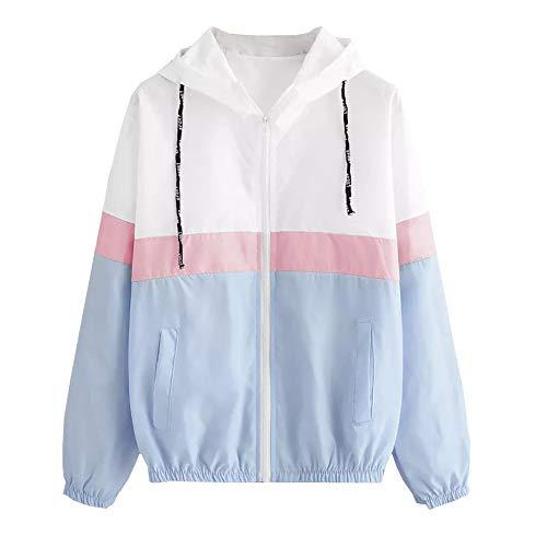 KIMODO Mantel Jacke Damen Herbst Schwarz Blau dünn Kapuzen-Reißverschluss Hoodie Pullover Coats Outwear Mode 2019