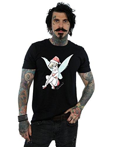 Disney Herren Tinkerbell Christmas Fairy T-Shirt Small Schwarz (T-shirt Tee Tinkerbell)