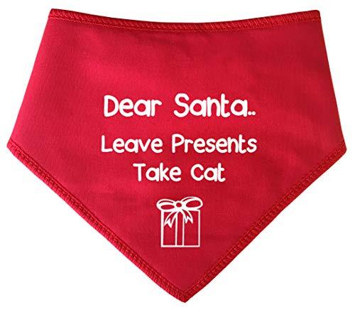 Extra Santa Große Kostüm Hunde - Spoilt Rotten Pets (S2) Dear Santa Leave Presents Take Cat Weihnachten Dog Bandana-alle Rassen Größen erhältlich von Tiny Chihuahua bis extra groß Neufundländer Hund