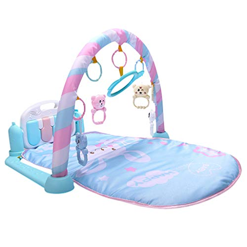 ❤jieGREAT❤ 3 in1 Baby Musical Light,Gym Spielmatte Lay,Kinder Spielmatte für Kinder (Blau)