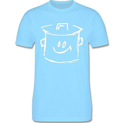 Küche - Kochtopf - Herren Premium T-Shirt Hellblau