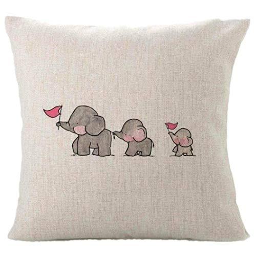 DOUERDOUYUU Funda de Almohada Animal Funda de Almohada, Tres Elefantes del bebé...