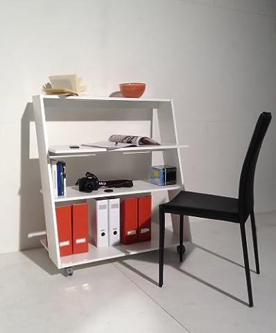 Rollbarer Schreibtisch 'SYDNEY' in weiß B 95 x T 50