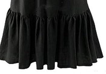 PvxgIo Robes à Un col Deux Façons de Porter Robes Une Pièce Robes à Volants Robes Solides (Couleur : Black, Taille : XXL)