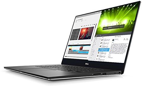 Dell 9560-4575 39,62 cm (15,6 Zoll) XPS, Notebook (Intel Core i7-7700HQ, 16GB RAM, NVIDIA GeForce GTX 1050, Win 10 Home) schwarz/silber