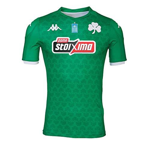Kappa Kombat Home Panathinaikos Camiseta De Juego, Unisex Adulto, Verde/Blanco, M