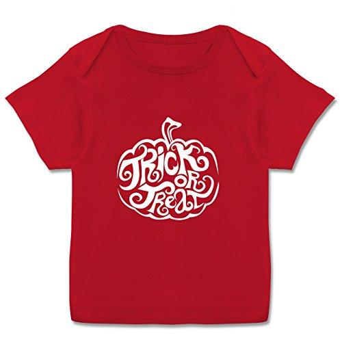Anlässe Baby - Trick or Treat - 80-86 (18 Monate) - Rot - E110B - Kurzarm Baby-Shirt für Jungen und Mädchen (Halloween-kostüme Die 2019 Ideen Originelle Für)