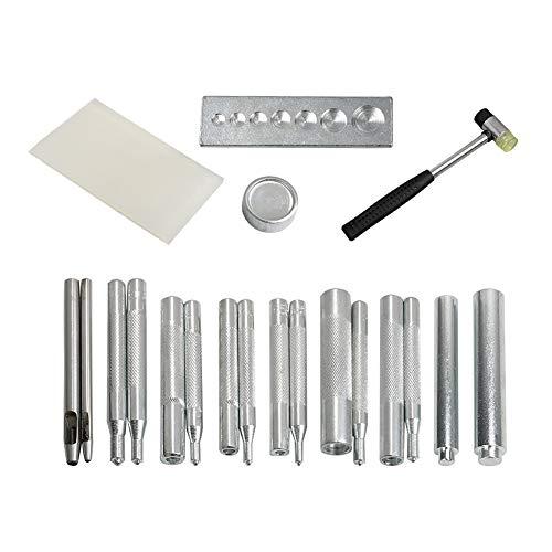QQDEAL Set von Leder Craft Stanzlocher Metall Snap Niet Knopf Basis Handwerkzeug