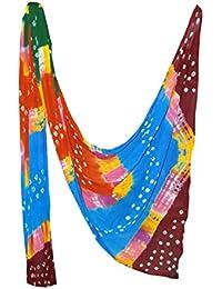 Fashion Store Women's Chiffon Jaipuri Bandhej Dupatta Stole,chunni (Multicolor, Free Size,) - B077TVDG77