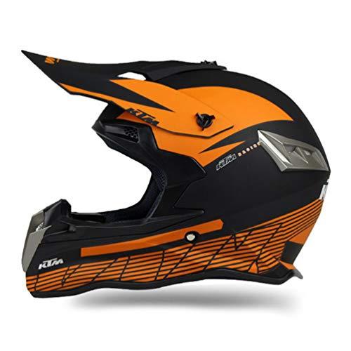 Qianliuk ABS Motobike Helm Cross-Country-Motorrad Helme Personalitäten Mountainbike Helme Motocross Helm Erwachsene