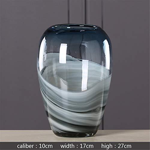 Xin Pang Vase Glas Vase Transparente Hydroponic Gradient Farbe Blume Blüte Indoor Wohnzimmer Tisch Kreative Dekoration, 2.