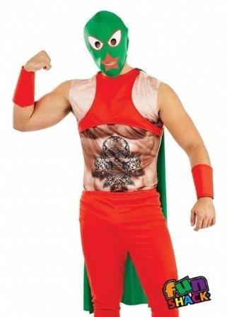 Fun Shack Herren Costume Kostüm, Mexican Wrestler, XL