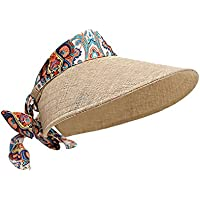 Leisial Gorra de Visera Femenino Anti-UV Sombrero del Sol Aire Libre Playa  Viaje Ciclismo bfc497d9839
