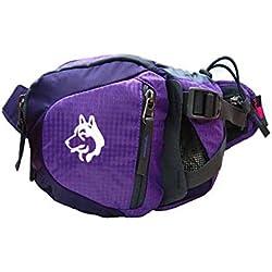 asdomo Wandern Bauchtasche, Laufen Gürtel Tasche Reise Tasche Joggen Taille mit Reißverschluss oder Laufen Reisen Radfahren Wandern Camping Reisen und Hund Walking, violett