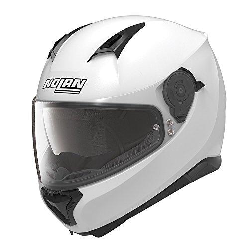 Nolan Motorradhelm, Vollvisierhelm, Integralhelm N87 Special Plus Reines White #15 M, Unisex, Sportler, Ganzjährig, Thermoplast, weiß -