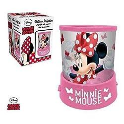 Veilleuse à pile DISNEY Minnie Mouse Projecteur en Rose - LR2250