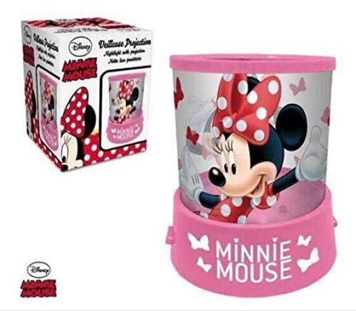 Veilleuse à pile DISNEY Minnie Mouse Projecteur en Rose - LR2250