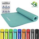 MSPORTS Gymnastikmatte Premium | inkl. Übungsposter | Hautfreundliche - Phthalatfreie Fitnessmatte - Cyan - 190 x 100 x 1,5 cm - sehr weich - extra dick | Yogamatte
