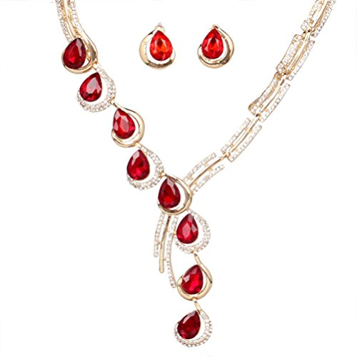 sunifsnow-fashion-tilt-one-line-crystal-diamond-necklaceearrings-two-suit-red