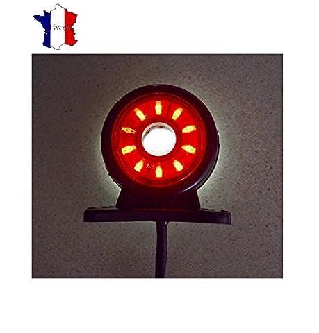 4X24V LED FEUX DE GABARIT TOURNANT/CIRCULAIRE ROUGE ET BLANC POUR ISUZU SCANIA