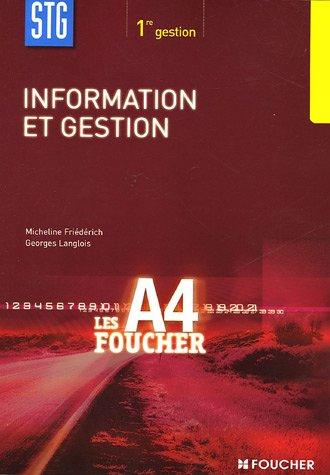 Information et gestion 1e STG
