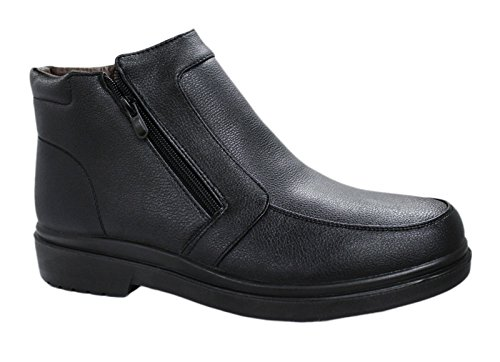 Scarpe Stivaletti uomo nero casual sneakers invernali con pelliccia numero 40 41 42 43 44 45 (44, nero)