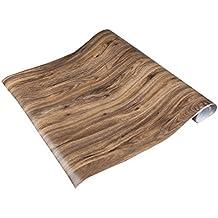 Auralum Grano de madera Adhesivos de PVC Resistente al Agua Pegatinas autoadhesivas para gabinetes de la Cocina del Papel Pintado para Muebles, 61 x 500cm ,Type A
