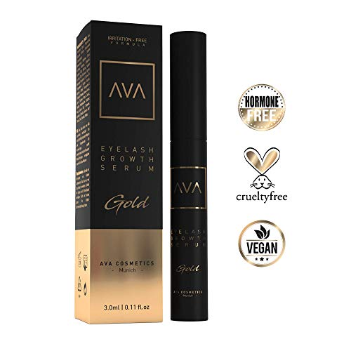 AVA® Gold - Eyelash Growth Serum - Wimpernserum & Augenbrauenserum - Hormonfrei - 3ml - Made in...