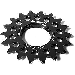 Piñon Fijo para Bicicleta Fixie Single Speed Ruder Berna 16T Aluminio Color Negro Mecanizado CNC 3609