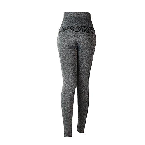 Glamexx24 Damen Workout Sporthose Yoga Pants Fitness Jogginghose Training Leggings Stretch Hose SchwarzSport