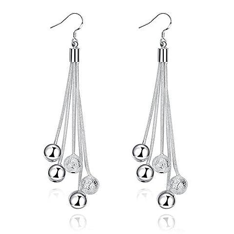 Nouvelle arrivée NYKKOLA Fashion Jewelry 925 Sterling Plaqué argent Boucles d