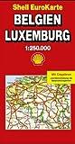 Belgien, Luxemburg 1 : 250 000 (Die Große Shell Autokarte). ( eurocart) -