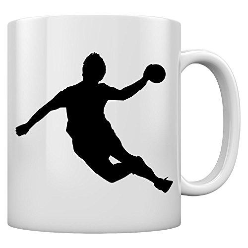 Perfekte Geschenktasse für die Handballer und Fans Kaffeetasse Tee Tasse Becher 11 Oz. Weiß
